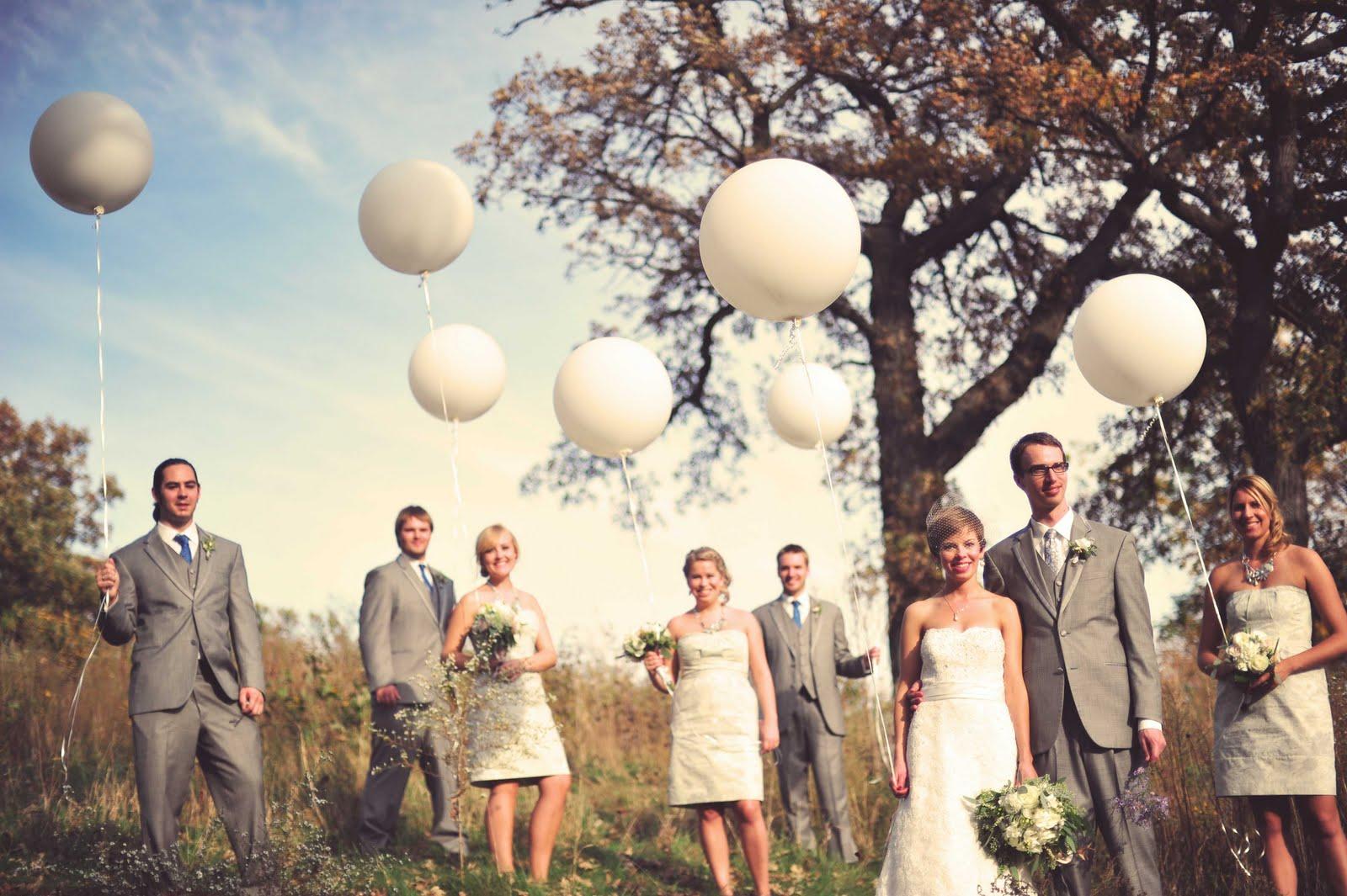 balionai vestuvems